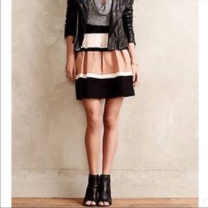 HD in Paris color block high waisted skirt.